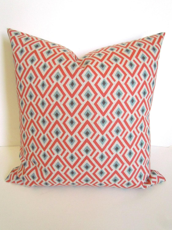 Spa Blue Throw Pillows : CORAL PILLOWS Coral Throw Pillows Spa Blue Throw Pillow Covers
