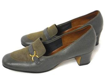 Vintage 60's ladies Aldens loafer heels (AS IS)