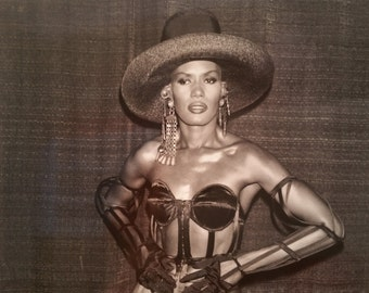 GRACE JONES 1989 Original Photo - 1st annual International Rock Awards