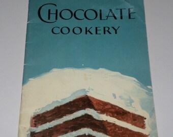 1929 Chocolate Cookery Cookbook