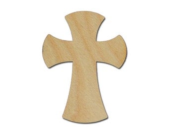 Wood Cross Unfinished Wooden Crosses 8  x 11 inch Crafts part # C11-121