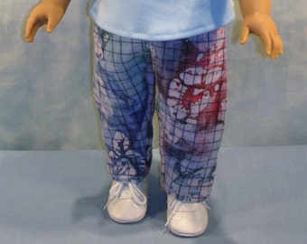 18 Inch Doll Clothes - Multi Colored Plaid Flannel Pants handmade by Jane Ellen to fit 18 inch dolls