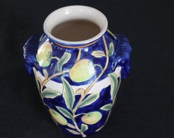 Blue Art Pottery vase