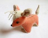 Waldorf Baby Toy, Stuffed Animal Fox, Organic Cotton Soft Toy