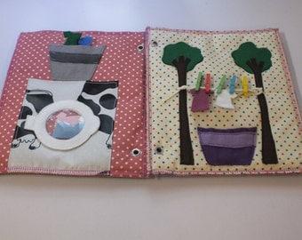 Quet Book-Activity Book-Busy Book-Felt book-Washig Machine Page