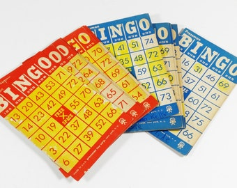 Set of 19 Vintage Bingo Cards