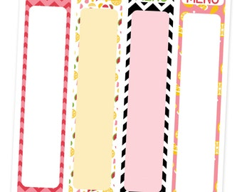 Menus Erin Condren Vertical Life Planner Menus and Grocery Lists Planner Stickers EC Planner Stickers fits Side area of calendar planner
