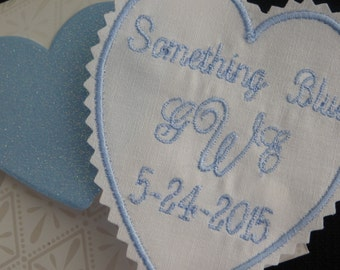 Embroidered Wedding Dress Label. This can be sewn in your wedding gown.