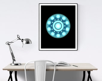 Iron Man Arc Reactor Minimalist Poster