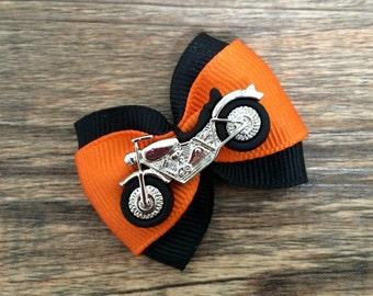 Motorcycle Hair Bow Harley Davidson Hair Bow Motorcycle Baby Bow Motorcycle  Dog Bow