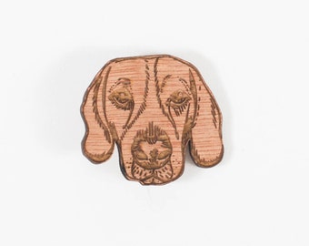 Cassie, the Beagle ~ wooden brooch - gift for dog lovers