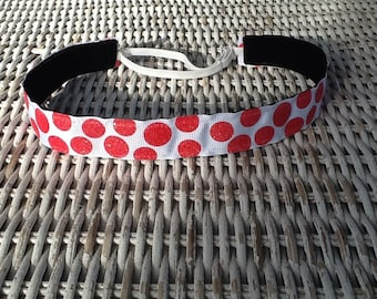 Red Polka Dot Headband - Girls Fashion Headband