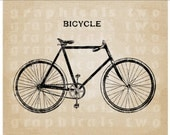 Men's Bicycle Instant clip art digital download image for iron on fabric transfer burlap decoupage scrapbooks pillows cards totes No. gt197