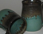 Pottery Mug, XL 20 oz in Evergreen Brown, Handmade, Microwave Dishwasher Safe