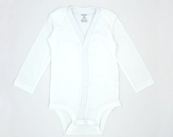 Baby Boy Onesie Baptism or Christening Cardigan