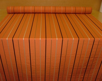 Ashley Wilde designer jacquard burnt orange stripe heavy weight quality fabric 56inch wide suitable for upholstery or for crafts