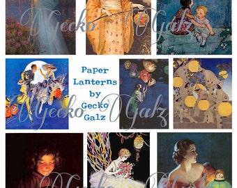 Paper Lanterns Digital collage sheet