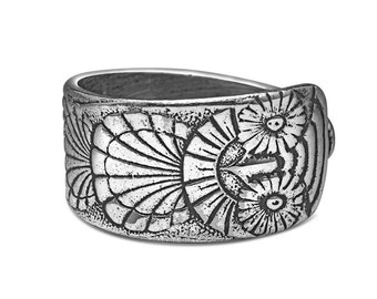 "Spoon Ring: ""Owl"" by Silver Spoon Jewelry"