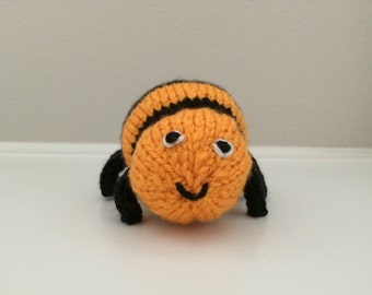 Knitted Spider - Soft Toy - Spider Stuffed Toy - Spider Stuffed Animal