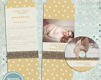 ON SALE Print Release for Photographers, ,dvd case, label, psd templates - INSTANT Download