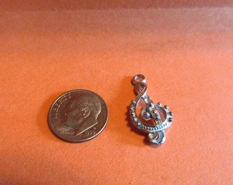 One Dozen Pewter G Cleff  Music Charms