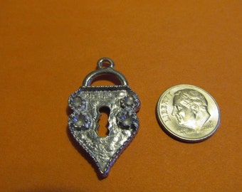 Three Pewter Pad Lock Pendants