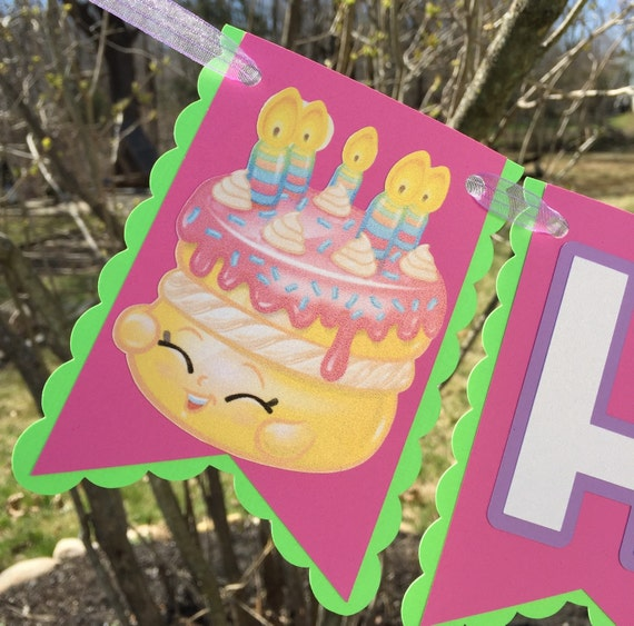 Shopkins Birthday Banner Shopkins Party Banner: Shopkins Inspired Birthday Banner By RileyJInspired On Etsy