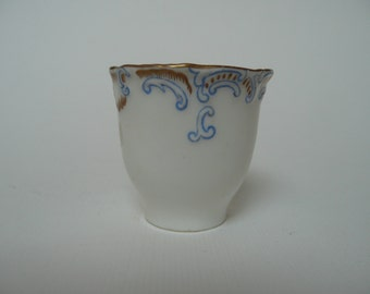 European gold and blue marked Porcelain China Hand Painted Egg or Sake cup R 266891