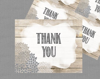 Thank You Card, INSTANT DOWNLOAD, Digital File, Printable _1197