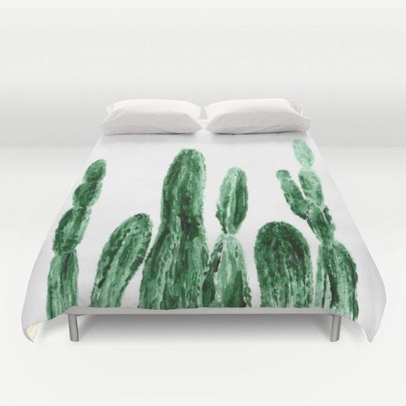 Cactus Duvet Cover White Duvet Cover Cactus Bedding Cactus