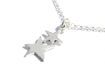 Star pendant on sterling silver chain