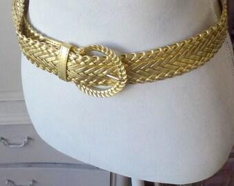 golden woven belt