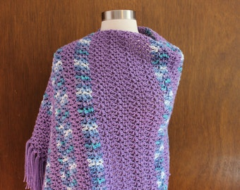 Crocheted Shawl - Lavender