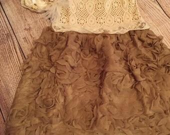 Crochet top lace dress