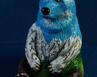 Polymer Clay Alaskan Grizzly Bear Figurine