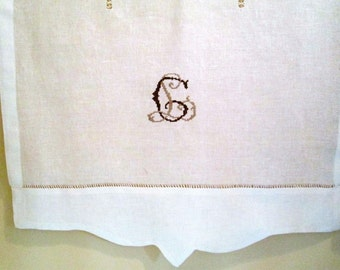 Custom linen curtains, monogrammed linen curtains, linen curtain customised