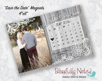 4x6 Save the date Magnets