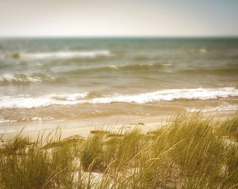 Michigan Beach Photography, Great Lakes Photo, Lake Michigan Photo, Lake Michigan Beaches, Michigan Decor, Ludington Michigan