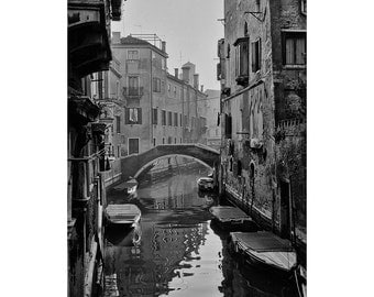 Venice Photography, Venice Canal Photo, Venezia, City of Canals, Venice Italy, Black And White Fine Art Photography