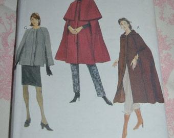 Vogue 7186 Misses Cape Sewing Pattern UNCUT Size XS S M