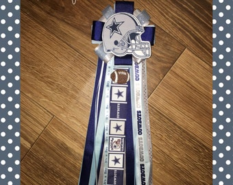 Dallas Cowboy baby shower corsage