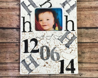 Photo Frame New Baby Gift Personalized with Initials