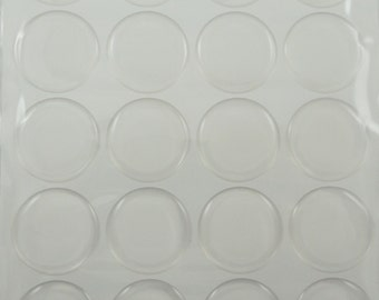 "1"" Epoxy Stickers for Bottle caps - Clear or Glitter in sheets of 20"