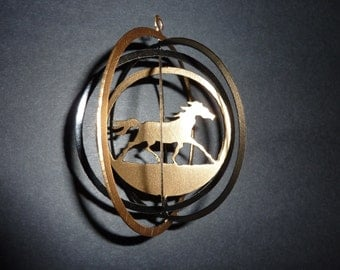 Horse Spiral Ornament