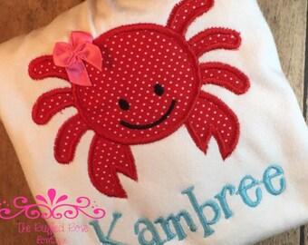 Girly Crab Shirt or Bodysuit