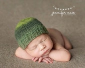 Newborn {Classic Variegated} Knit Beanie, Photography Prop, Many Color Options