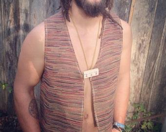 Paisley & Stripe Vest
