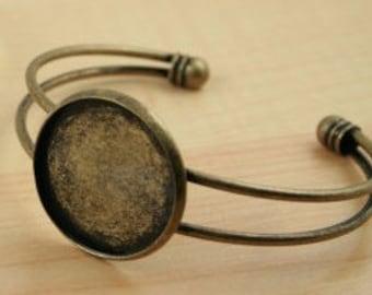 1 in. antique bronze custom photo bracelet