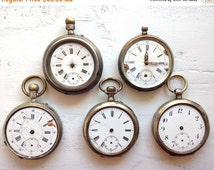 SALE - Antique watch Vintage Silver watch Swiss Watch Pocket watch - NOT Working  - Case made of silver- Made in 1900s - Old