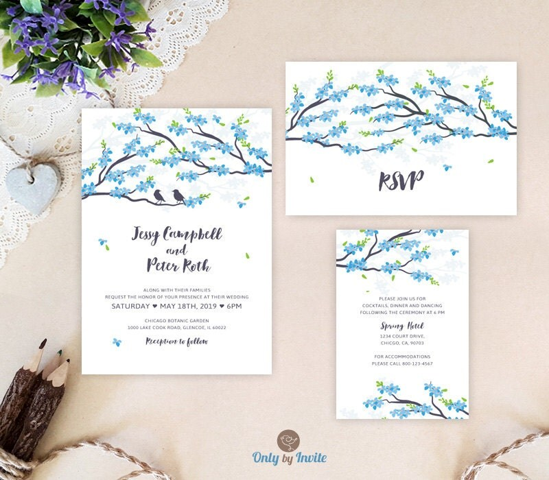 Cheap Wedding Invitation Sets Blue Wedding Invitations
